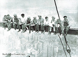 Lunch Atop Skyscraper Rockefeller Center Photo Poster von Charles C. Ebbets