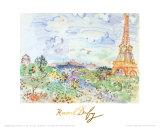 La Tour Eiffel, c.1935 Kunst av Raoul Dufy