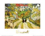 Weg und Treppe in Auvers Poster von Vincent van Gogh