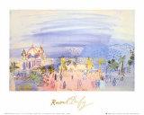 Casino in Nice Plakater av Raoul Dufy