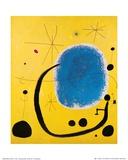 Het goud van het Hemelsblauw Affiches van Joan Miró