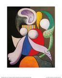 Frau mit Blumen, 1932 Poster von Pablo Picasso