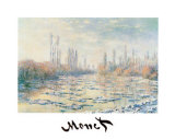 The Thawing Pôsters por Claude Monet