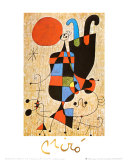 Upside-Down Figures Print by Joan Miró