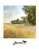 Oat Fields Posters av Claude Monet