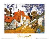 Street in Auvers (Les Toits Rouges), c.1890 Poster av Vincent van Gogh