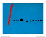 Blauw II, ca.1961 Affiches van Joan Miró
