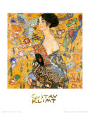 Mujer con abanico Pósters por Gustav Klimt