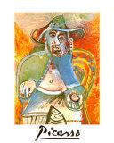 Vieil Homme Assis Mougins, c.1970 Posters por Pablo Picasso