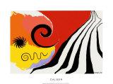 Pinwheel and Flow, c.1958 Silketrykk av Alexander Calder