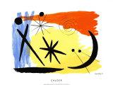 Lunarscape, c.1953 Silketrykk av Alexander Calder