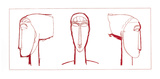 Tête (rouge) Sérigraphie par Amedeo Modigliani