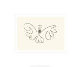 Sommerfuglen Silketrykk av Pablo Picasso