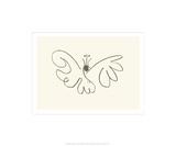 Fjärilen|The Butterfly Serigrafiprint (silkscreentryck) av Pablo Picasso