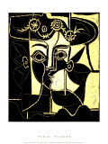 帽子を被る女 1962年 セリグラフ : パブロ・ピカソ
