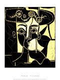 Femme au Chapeau Orne, c.1962 Serigrafia por Pablo Picasso