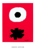 White Disc Red Ground, c.1967 Posters por Adolph Gottlieb