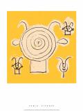 Tete de Faune en Grisaille avec Trois Figure Silketrykk av Pablo Picasso