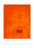Untitled, c.1991 (Orange) Serigrafia por Jürgen Wegner