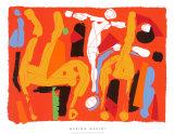 Chevaux et Cavaliers V, c.1972 Serigrafi (silketryk) af Marino Marini