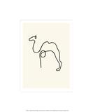 Kamelen|The Camel Serigrafiprint (silkscreentryck) av Pablo Picasso