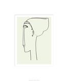 Tete de Profil, c.1911 Serigrafía por Amedeo Modigliani