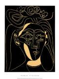 Femme au Chapeau Fleuri Serigrafia por Pablo Picasso