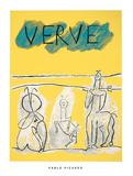 Cover For Verve, c.1951 Serigrafia por Pablo Picasso