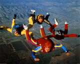 Skydiving, Free Fall Formation Posters