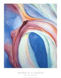 Música rosa y azul Láminas por Georgia O'Keeffe