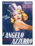 Der blaue Engel (italienisches Filmposter) Kunstdruck