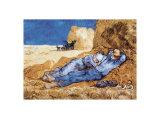 Middagshvil, ca. 1890 Posters av Vincent van Gogh