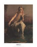 Ophelia (Ausschnitt) Poster von Arthur Hughes