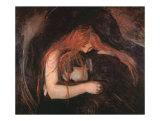 Le vampire Posters par Edvard Munch