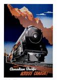 Reclameposter spoorwegmaatschappij, Engelse tekst: Canadian Pacific Posters
