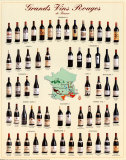 Grands vins rouges de France Posters