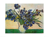 Vase of Irises, c.1890 Posters av Vincent van Gogh
