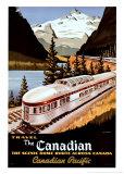 Reclameposter spoorwegmaatschappij, Engelse tekst: Canadian Pacific Poster van Roger Couillard