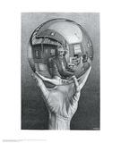 Hand with Reflecting Sphere Print van M. C. Escher