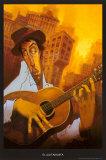 El Guitarrista Arte por Justin Bua