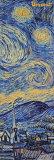 星月夜(糸杉と村) 1889年(詳細) ポスター : フィンセント・ファン・ゴッホ