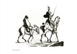 Don Quixote Plakat av Honore Daumier