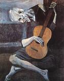 De oude gitarist, c. 1903 Poster van Pablo Picasso