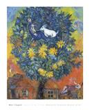 Otoño en la aldea Láminas por Marc Chagall