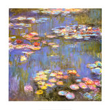 Waterlelies, 1916 Poster van Claude Monet