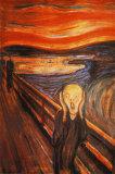 Skrik, ca. 1893 Plakat av Edvard Munch