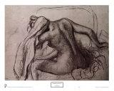 Woman Drying Her Neck Print by Edgar Degas