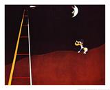 Hond blaft naar de maan Posters van Joan Miró
