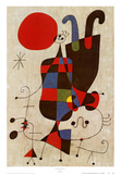 Personnages inversés Affiches par Joan Miró