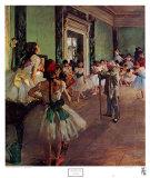 La classe de danse Posters par Edgar Degas